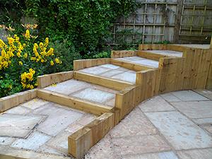 wooden garden sleepers